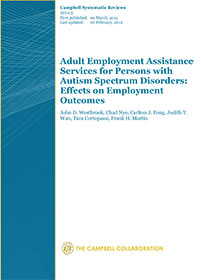 Effectiveness of Adult Employment Assistance Services for Persons with Autism Spectrum Disorders
