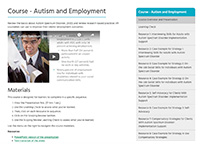 Course: Autism and Employment