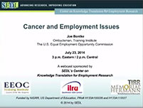 Webinar: Cancer and Employment Issues
