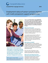 Behavioral, Psychological, Educational and Vocational Interventions to Facilitate Employment Outcomes for Cancer Survivors: A Systematic Review