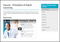 Course: Principles of Adult Education