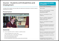 Course: Students with Disabilities and Employment