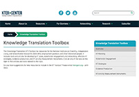 Screenshot of the Toolbox main page